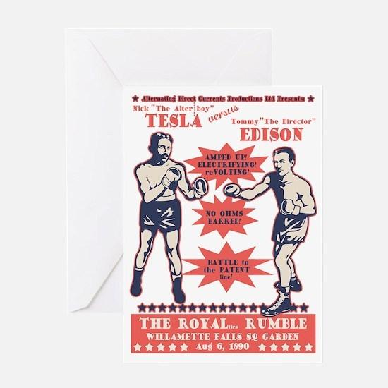 tesla-v-edison-DKT Greeting Card