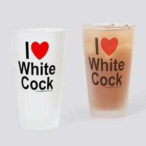 White Cock Drinking Glass