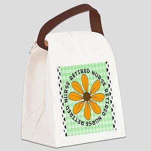 retired nurse gingham green Canvas Lunch Bag