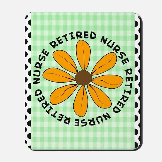 retired nurse gingham green Mousepad