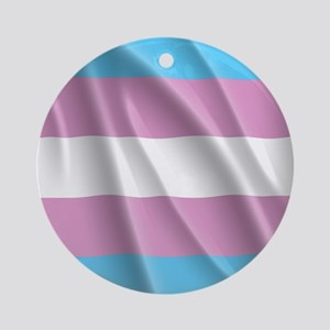 TRANSGENDER FLAG Round Ornament