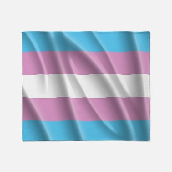 TRANSGENDER FLAG Throw Blanket