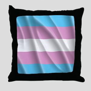 TRANSGENDER FLAG Throw Pillow