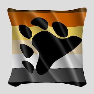 BEAR PRIDE FLAG Woven Throw Pillow