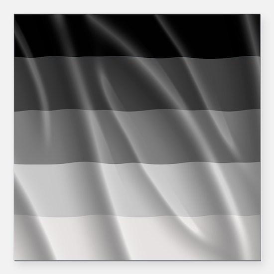 "STRAIGHT PRIDE FLAG Square Car Magnet 3"" x 3"""