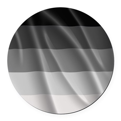 STRAIGHT PRIDE FLAG Round Car Magnet