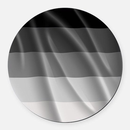 STRAIGHT PRIDE FLAG Round Car Magnet