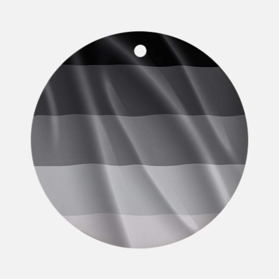 STRAIGHT PRIDE FLAG Round Ornament