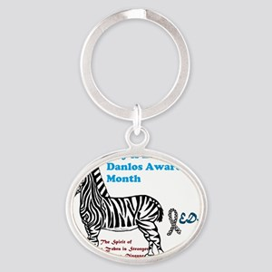 May is EDS Awareness Month Oval Keychain