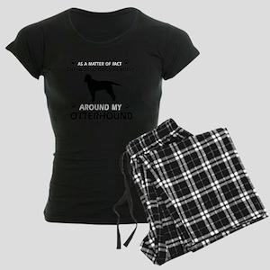 My Otterhound Designs Women's Dark Pajamas
