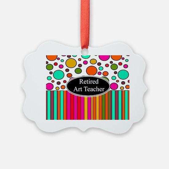 RETIRED ART TEACHER 3 Ornament