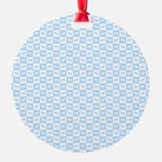Blue horses Ornament
