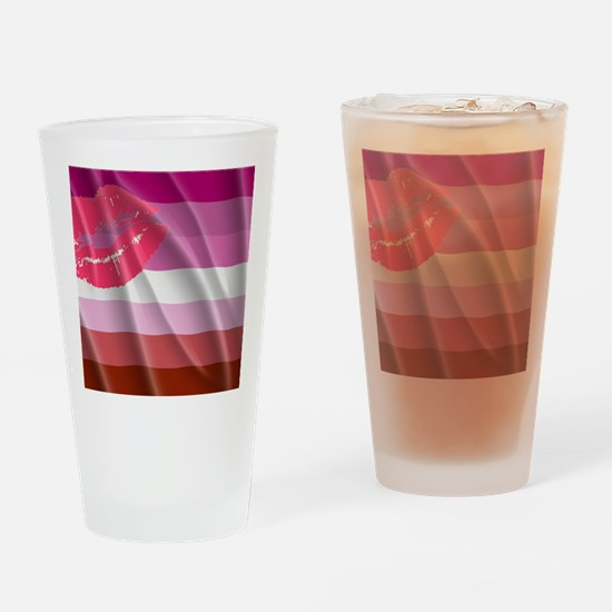 LESBIAN PRIDE FLAG Drinking Glass