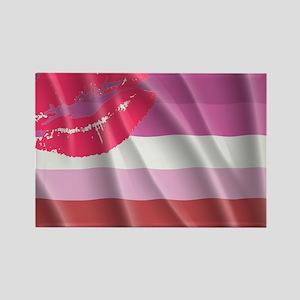LESBIAN PRIDE FLAG Rectangle Magnet