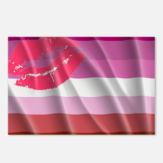 LESBIAN PRIDE FLAG Postcards (Package of 8)