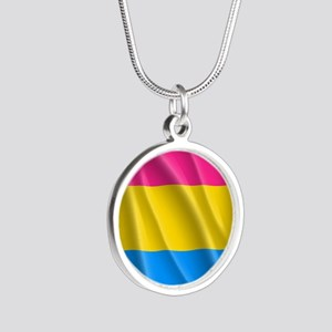 PANSEXUAL PRIDE Silver Round Necklace