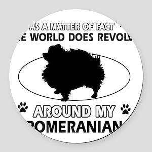 My Pomeranian Designs Round Car Magnet