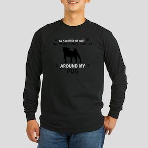 My Pug Designs Long Sleeve Dark T-Shirt