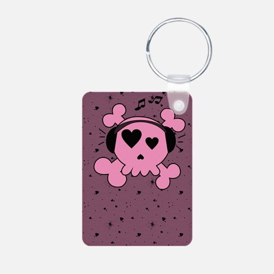 ms_5x8_journal_hell Keychains