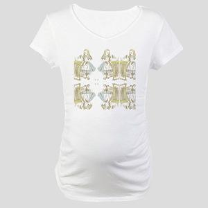 Drink Me Alice in Wonderland Maternity T-Shirt