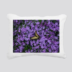 Spring Butterfly Visitor Rectangular Canvas Pillow