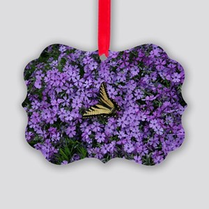 Spring Butterfly Visitor Picture Ornament