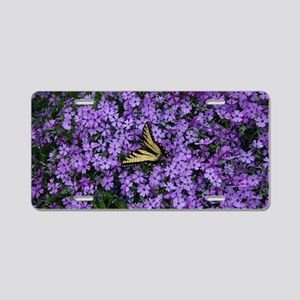 Spring Butterfly Visitor Aluminum License Plate