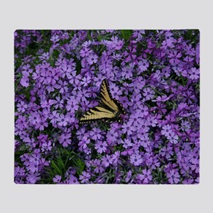 Spring Butterfly Visitor Throw Blanket