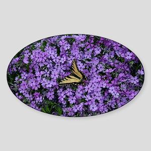 Spring Butterfly Visitor Sticker (Oval)