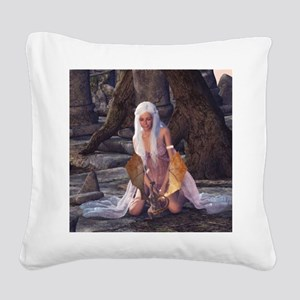 dl_Woven Blanket_1175_H_F Square Canvas Pillow