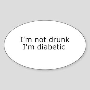 Diabetic Info Oval Sticker