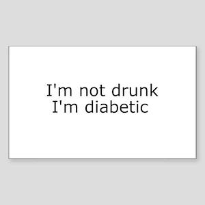 Diabetic Info Rectangle Sticker