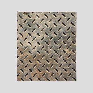 Weathered Metal Floor Cover Throw Blanket
