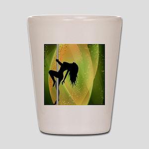 Exotic Dancer - Green Shot Glass