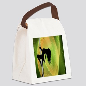 Exotic Dancer - Green Canvas Lunch Bag