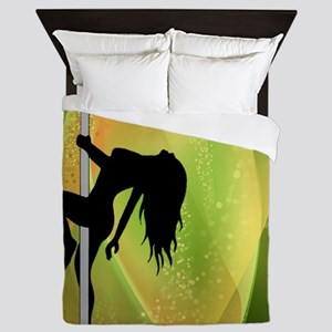 Exotic Dancer - Green Queen Duvet