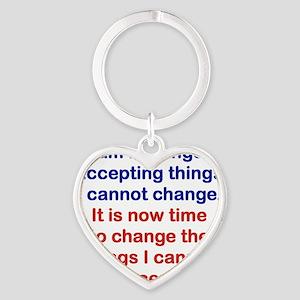 I AM NO LONGER ACCEPTING THINGS I C Heart Keychain