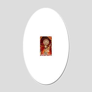 Santo Cristo 20x12 Oval Wall Decal
