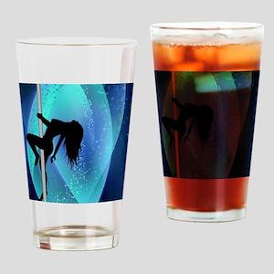Stripper Silhouette - Blue Drinking Glass