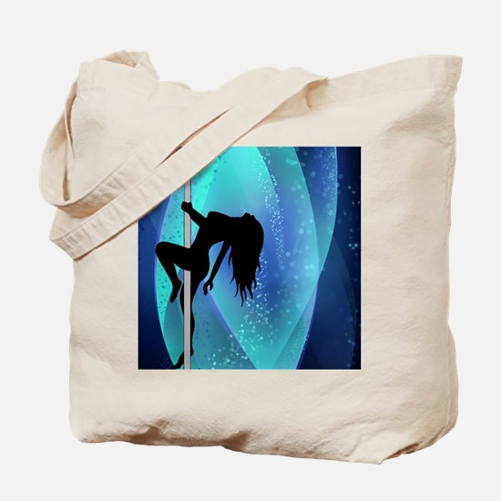 Stripper Silhouette - Blue Tote Bag