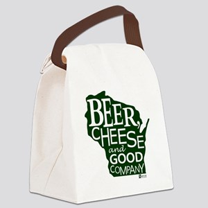 Beer, Chees & Good Company in Gre Canvas Lunch Bag