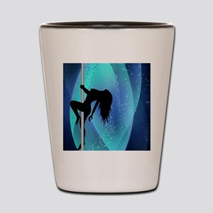 Stripper Silhouette - Blue Shot Glass