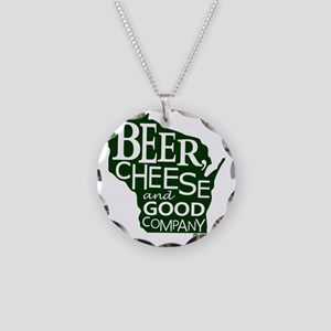 Beer, Chees & Good Company i Necklace Circle Charm