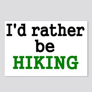 Id rather be HIKING Postcards (Package of 8)