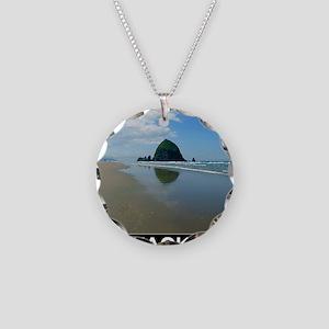 HAYSTACK ROCK Necklace Circle Charm