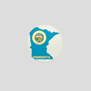 Minnesota State Flag Map Mini Button