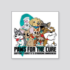 "Tourettes Syndrome Puppy Gr Square Sticker 3"" x 3"""