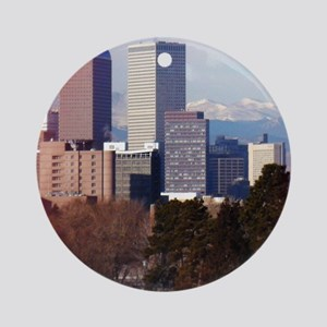 Denver Colorado Round Ornament