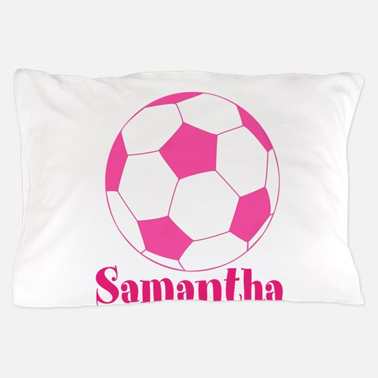 Pink Soccer Ball Pillow Case