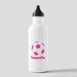 Pink Soccer Ball Water Bottle